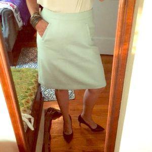 Knee-length mint JCrew pencil skirt NWT